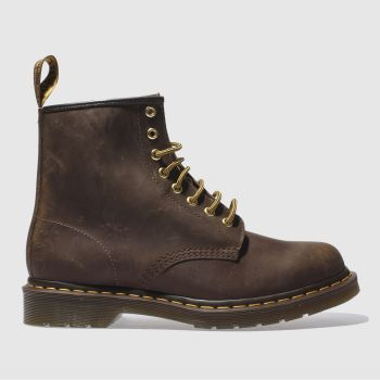 Dr Martens Dark Brown 1460 8-eye Mens Boots#