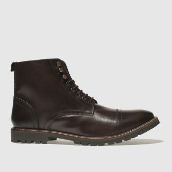 Base London Dark Brown Siege Mens Boots