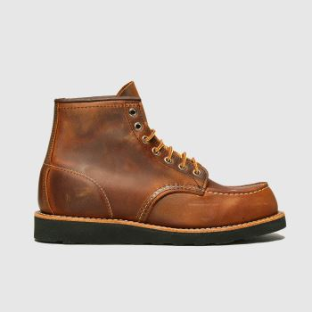 Red Wing Dark Brown 6-inch Classic Moc Mens Boots