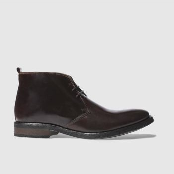 Base London Brown Parka Chukka Mens Boots