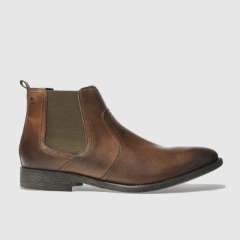 Base London Tan Engine Chelsea Mens Boots