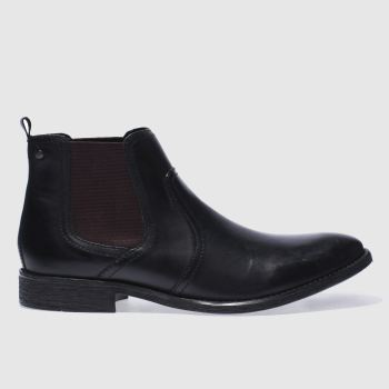 Base London Schwarz Engine Chelsea Herren Boots