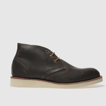 Red Wing Charcoal Work Chukka Mens Boots