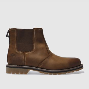 Timberland Brown Larchmont Chelsea c2namevalue::Mens Boots
