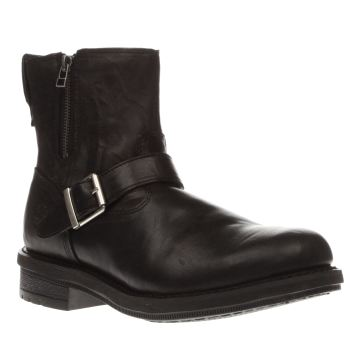 TIMBERLAND BLACK WILLOUGHBY GRUNGE SIDE ZIP BOOTS
