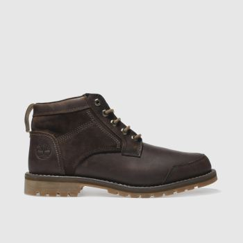 Timberland Dark Brown Larchmont 5 Eye Chukka Mens Boots