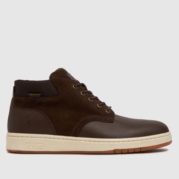 Polo Ralph Lauren Brown Sneaker Boot Waterproof Mens Boots
