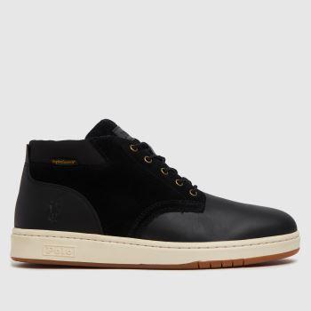 Polo Ralph Lauren Black Sneaker Boot Waterproof Mens Boots