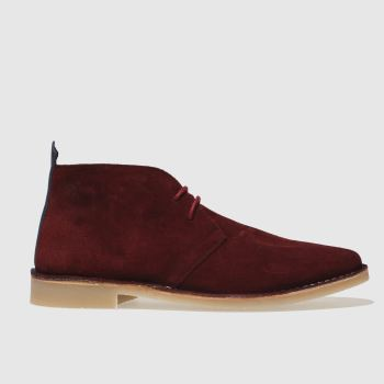 Red Or Dead Burgundy Mr Lawrence Desert Mens Boots