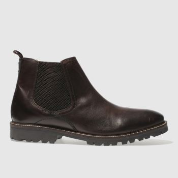 Ikon Dark Brown Duster Chelsea Mens Boots