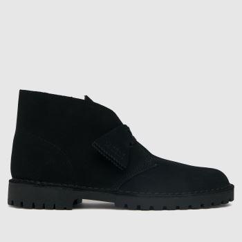 Clarks Originals Black Desert Rock Mens Boots