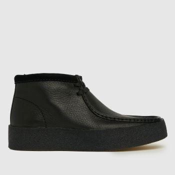 Clarks Originals Black Original Wallabee Cup Mens Boots