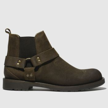 Schuh Brown Fletcher Harness Mens Boots