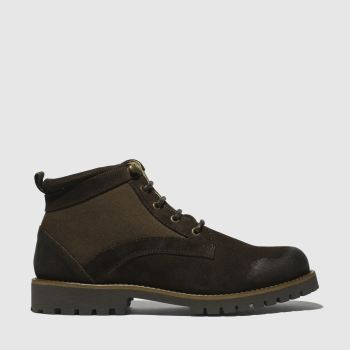 SCHUH DARK BROWN COMMANDER MIX BOOTS