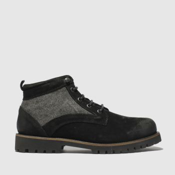 Schuh Black Commander Mix Mens Boots