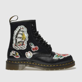 Dr Martens Black & Red 1460 Chris Lambert 8 Eye Mens Boots
