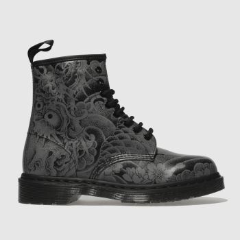 Mens Black Grey Dr Martens 1460 Ot Tattoo Backhand 8 Eye