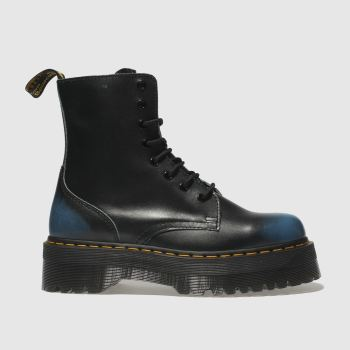 DR MARTENS BLACK AND BLUE JADON VINTAGE NZ BOOTS