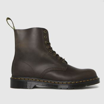 Dr Martens Dark Brown 1460 Pascal Wild Buck Mens Boots