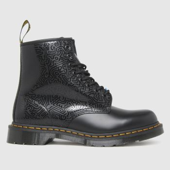 Dr Martens Black 1460 Keith Haring Mens Boots