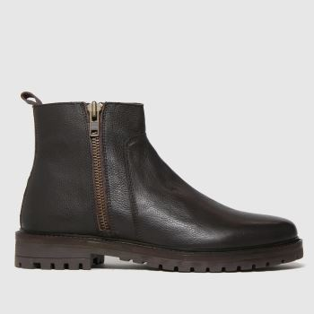 schuh Brown Marcus Side Zip Mens Boots