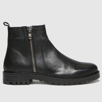 schuh Black Marcus Side Zip Mens Boots