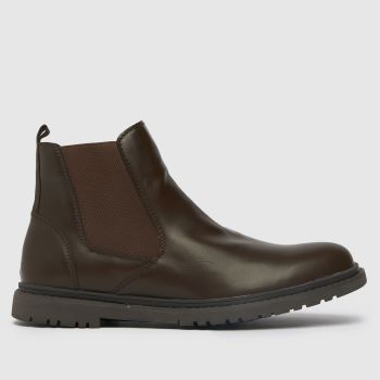 schuh Brown Cory Chelsea Mens Boots
