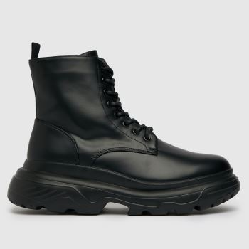 schuh Black Carson Lace Up Boot Mens Boots