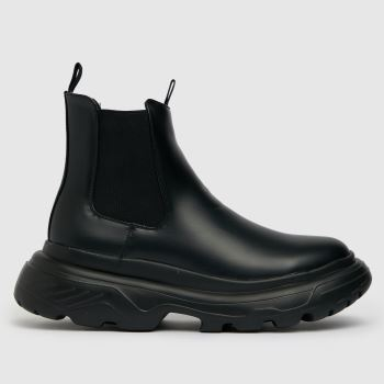 schuh Black Darnel Chunky Chelsea Mens Boots