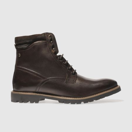 mens dark brown base london york boots schuh