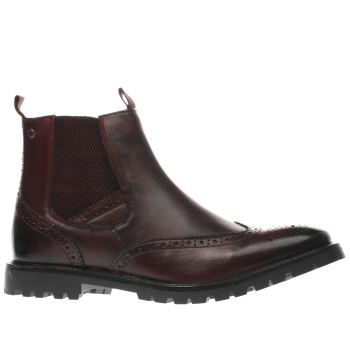 Base London Burgundy Bosworth Mens Boots