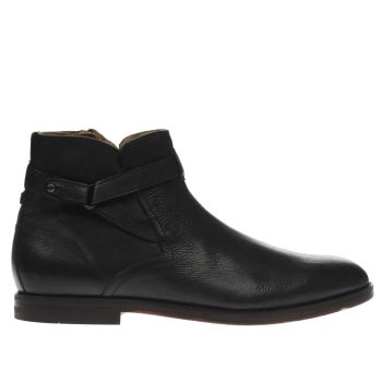 H By Hudson Black Cutler Mens Boots