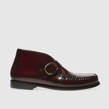 Bass Burgundy Langly Mid Mens Boots