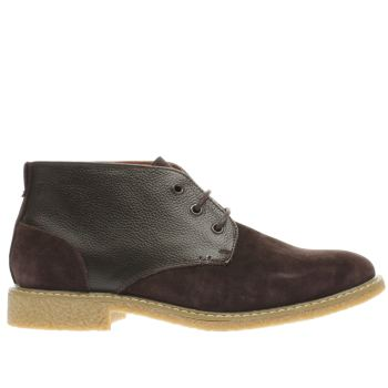PETER WERTH BROWN OLDMAN DESERT MIX BOOTS
