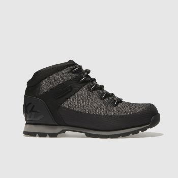 Timberland Black & Grey EURO SPRINT FABRIC Boots