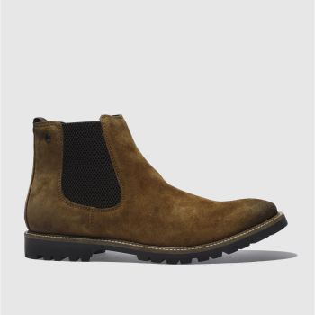 Base London Brown Turret Mens Boots