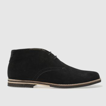 H By Hudson Black Aldershot Mens Boots