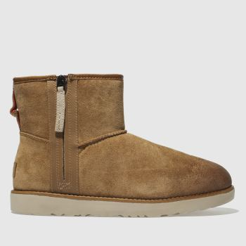 Ugg Tan Classic Mini Zip Mens Boots