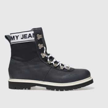 Tommy Hilfiger Navy TJ CANVAS SUEDE BOOT Boots