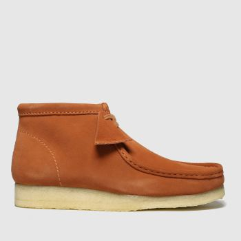 Clarks Originals Orange Wallabee Mens Boots