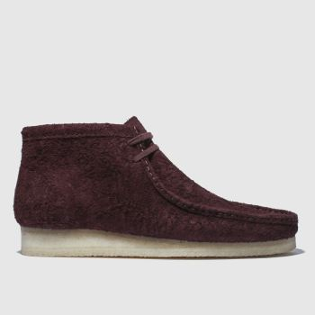 Clarks Originals Burgundy Wallabee Mens Boots