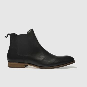 schuh Black Khan Chelsea Leather Mens Boots#
