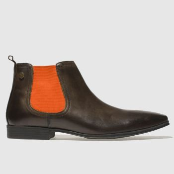 Base London Brown & Orange Weaver Mens Boots