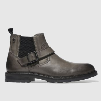 Base London Grey Morrow Mens Boots