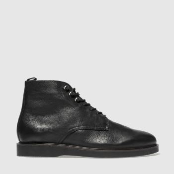 H By Hudson Black Battle Mens Boots