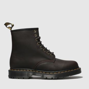Dr Martens Dark Brown 1460 8 Eye Wintergrip Mens Boots
