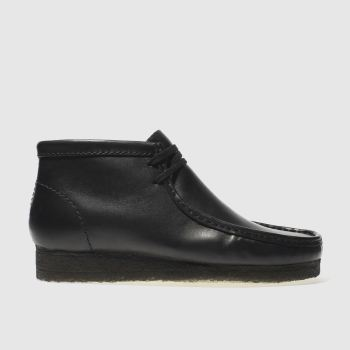 CLARKS ORIGINALS BLACK WALLABEE BOOT BOOTS