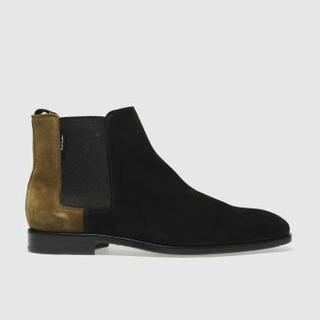 Paul Smith Shoe Ps Black & Brown Gerald Mens Boots