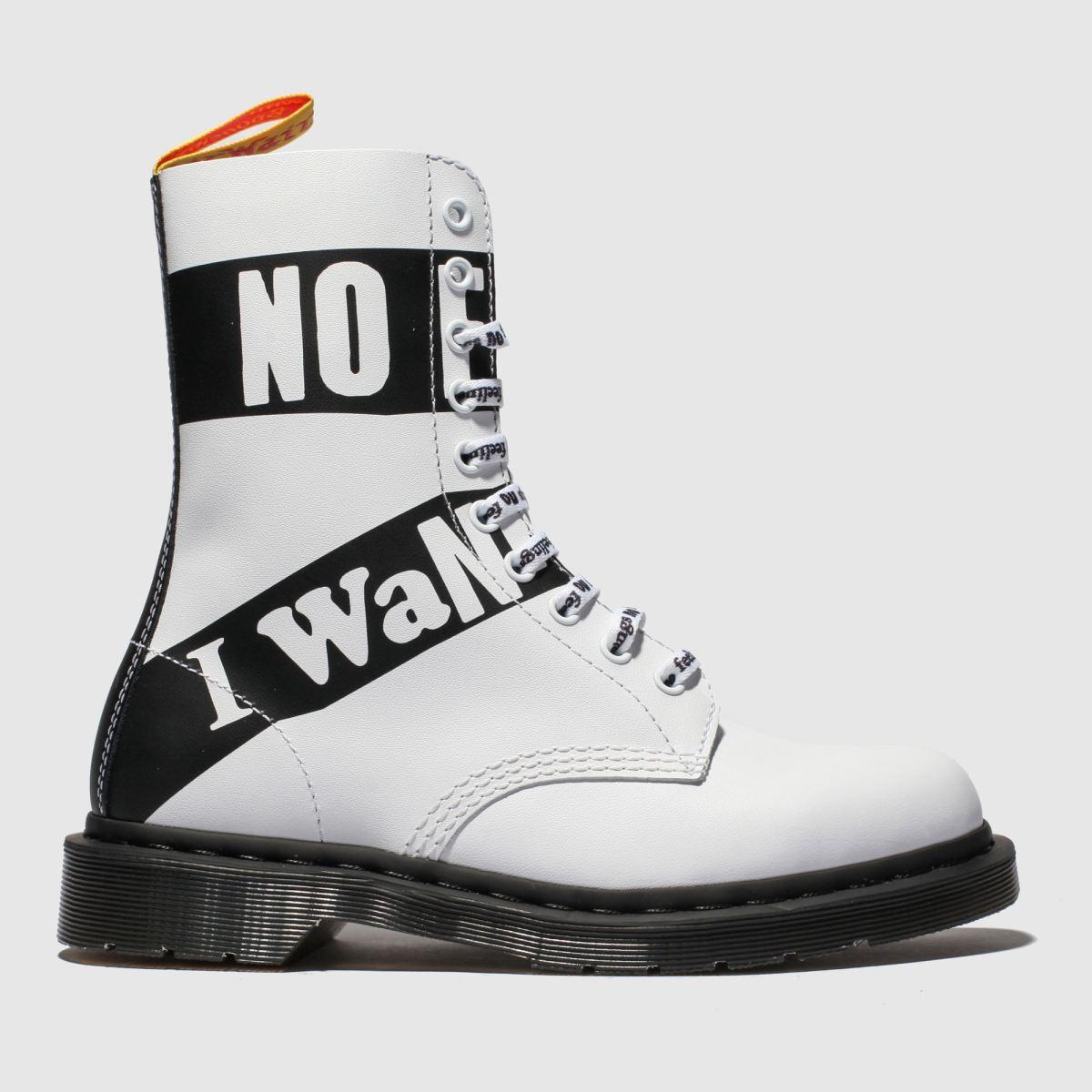 Dr Martens White & Black 1490 10 Eye X Sex Pistols Boots
