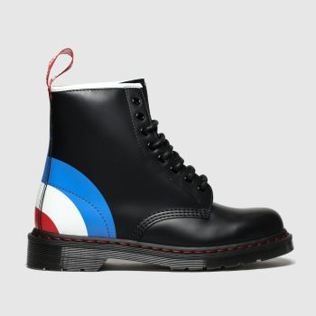 Dr Martens Black and blue 1460 Who 8-Eye Mens Boots